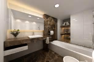 Inspiring bathroom with elegant style modern bath designs with white