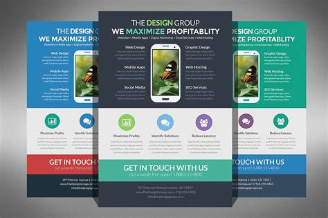 design flyer on mac flat design business flyer flyer templates creative market