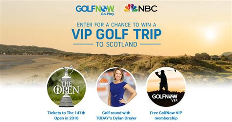 Trip Sweepstakes - win a vip golf trip to scotland for you and your dad