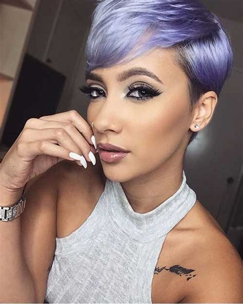 show soft lavender hair color for women 60 years ol 30 pixie cut styles short hairstyles 2017 2018 most