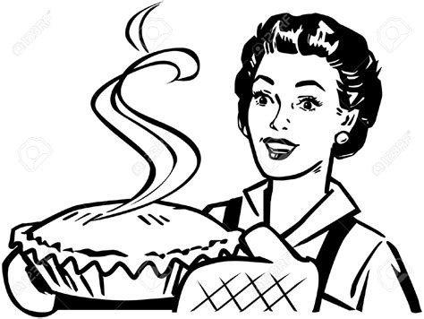 coloring pages of cake boss clip art ladybird cake ideas 28337174 fresh baked pie stock vector retro vintage woman