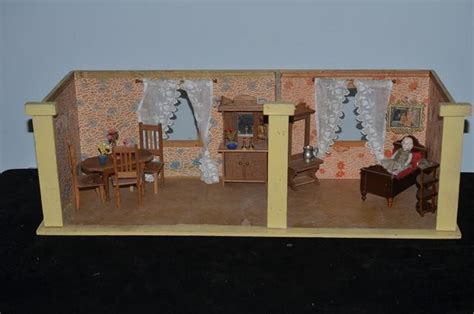 dollhouse room box doll two room diorama dollhouse room box w miniature
