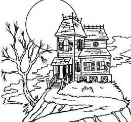 haunted house coloring pages haunted house coloring page coloringcrew