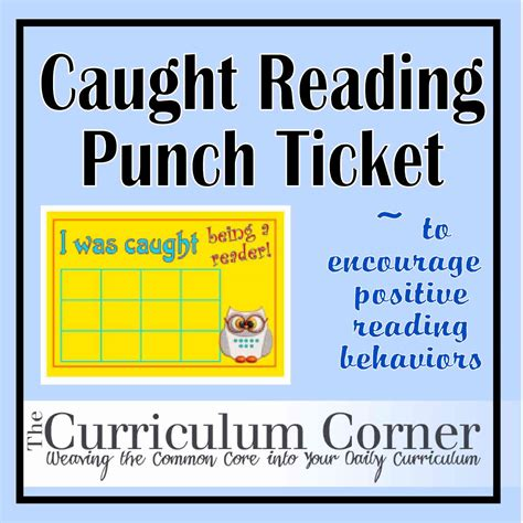 printable punch out tickets caught reading punch tickets the curriculum corner 123