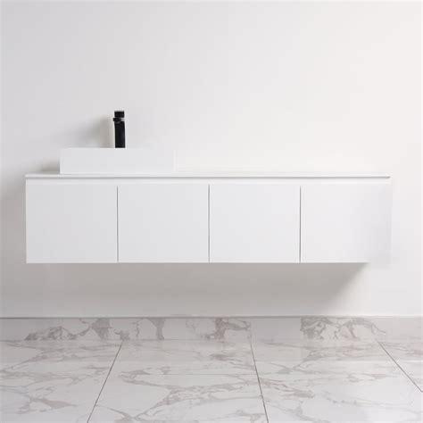 1600 Vanity Units by Amari Vanity Unit White Matt Unit Cubo