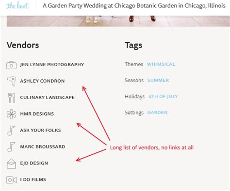 Wedding Vendor Websites backlinks to wedding vendor websites in real weddings