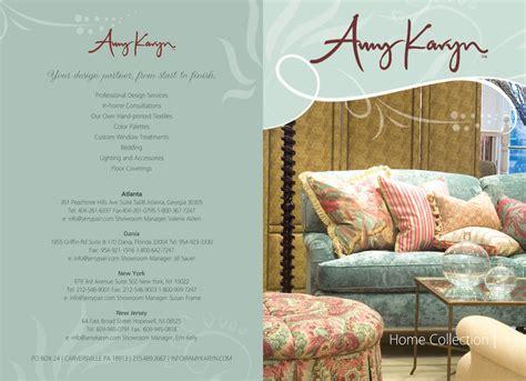 home decor brochure print design needed for interior design company amy karyn