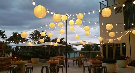 Decoration Awesome Outdoor Decor With Paper Lantern Lantern String Lights Outdoor