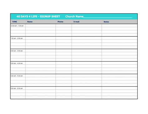 volunteer spreadsheet template sign up sheet exle property maintenance contract