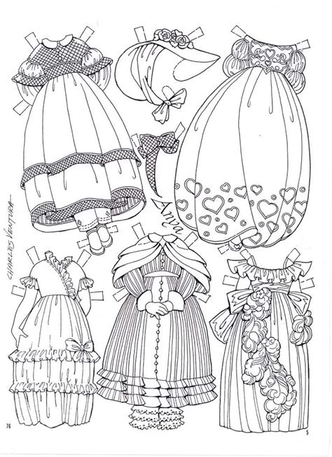 coloring page paper doll 1085 best printable coloring pages images on pinterest