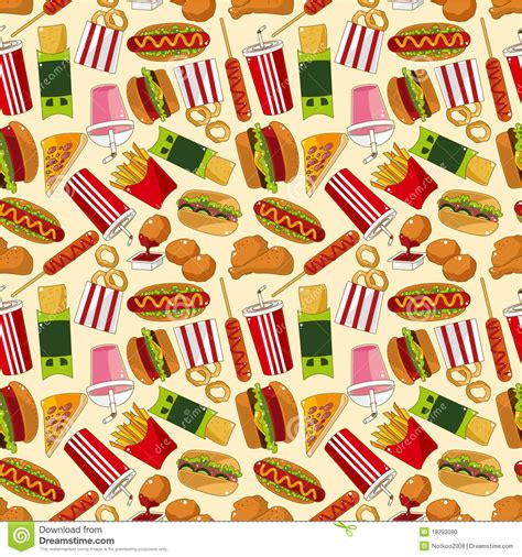food pattern photography seamless fast food pattern stock vector illustration of