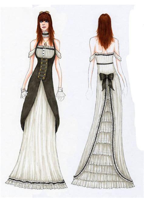 design victorian dress steunk victorian dress sketch steunk sketches