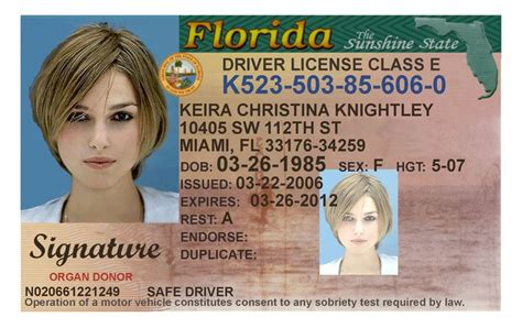 free state id card templates here s a sle of a florida id card that s sold by a