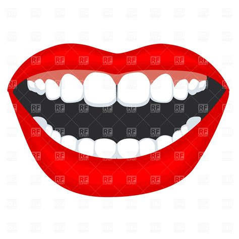 with teeth opened with teeth 765 fashion royalty free vector clip eps