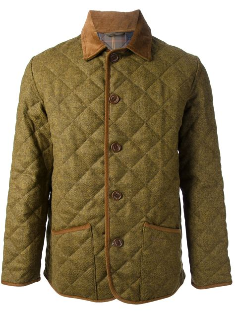 Barbour Quilted Jackets by Barbour Quilted Jacket In Khaki For Brown Lyst