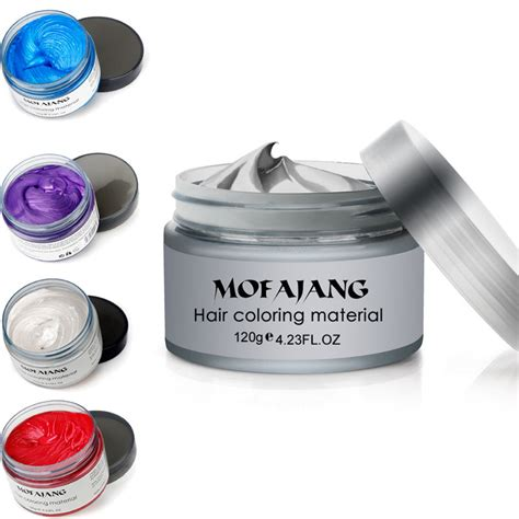 color wax hair color wax 120ml temporary gray hair wax easy color