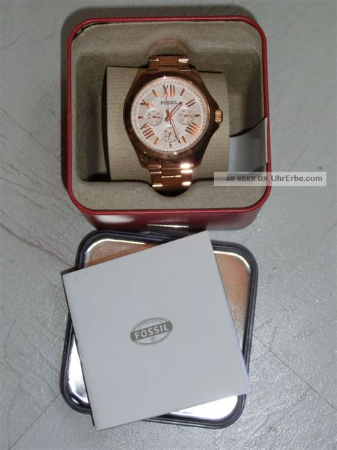 Cecille Rosegold fossil cecile am4511 multifunktionsuhr chronograph