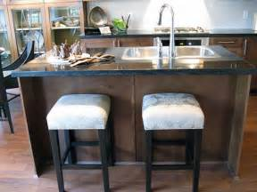 kitchen island with sink and stools home pinterest small kitchen sinks small kitchen with island l small