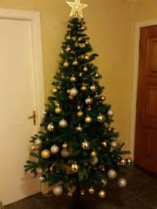 silver and gold christmas tree why not home holiday