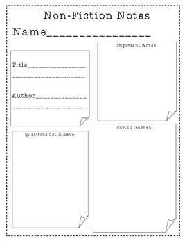 non fiction biography graphic organizer nonfiction stick notes nonfiction graphic organizer