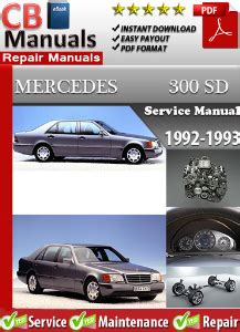 automotive service manuals 1993 mercedes benz 300sd engine control mercedes 300sd 1992 1993 service repair manual ebooks automotive