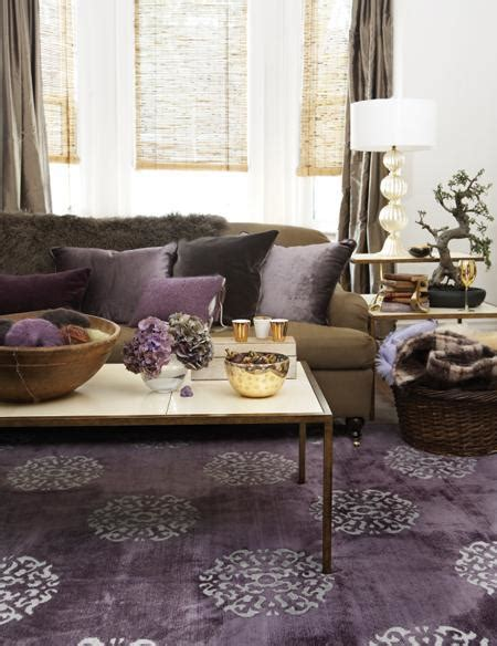 Purple And Brown Living Room | purple and brown living room transitional living room