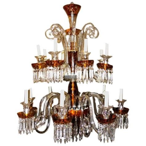 Bohemian Glass Chandelier Large Bohemian Glass Chandelier For Sale At 1stdibs