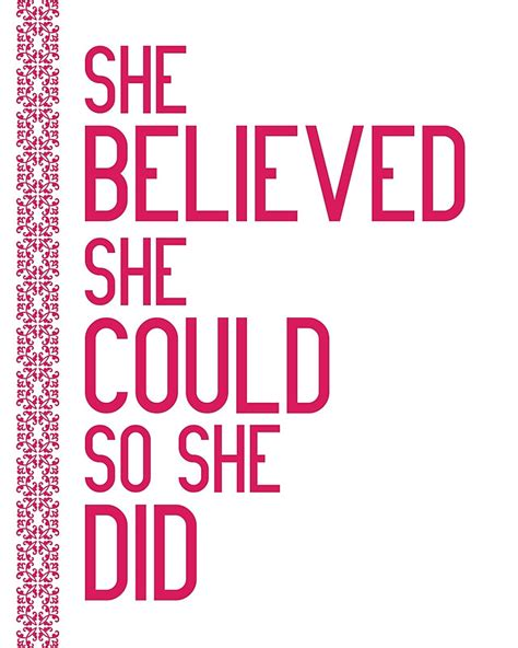 she believed she could so she did 2018 empowerment weekly monthly planner with to do lists inspirational quotes motivational diaries volume 1 books quot she believed she could so she did quot framed prints by