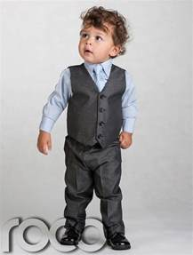 Baby Suit Boys Grey Waistcoat Suit Baby Boys Charcoal Suits Boys