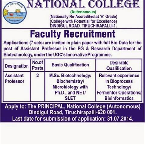 Mba Assistant Professor In Hyderabad by Hyderabad Microbiology Degree Pg Lecturer Avanthi