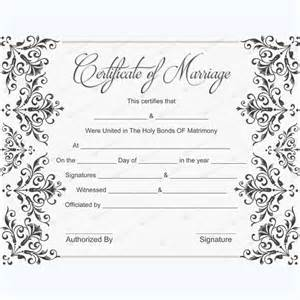 Marriage Certificate Templates Free Save Word Templates
