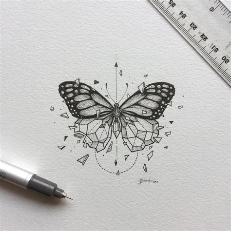 geometric butterfly tattoo best 25 geometric drawing ideas on