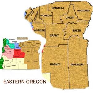 eastern oregon map oregon eastern region bed and breakfasts vacation rentals