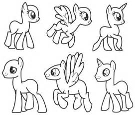 My Pony Drawing Template by My Template By Coptermode Deviantart On