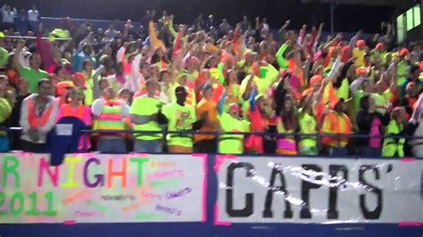 student section signs mooresville capps crazies epic freeze neon night youtube