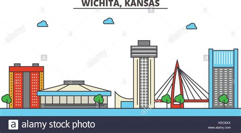 icon design kansas city wichita kansas downtown stock photos wichita kansas