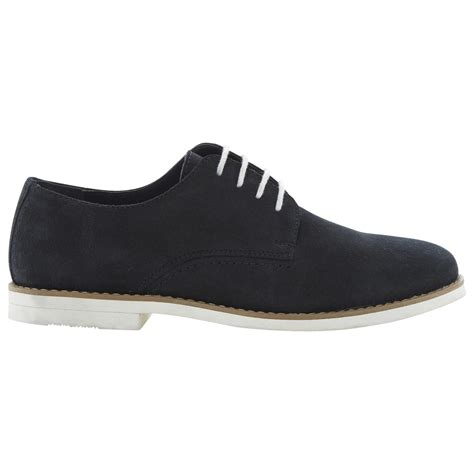 dune boyd white sole gibson shoes in blue for navy