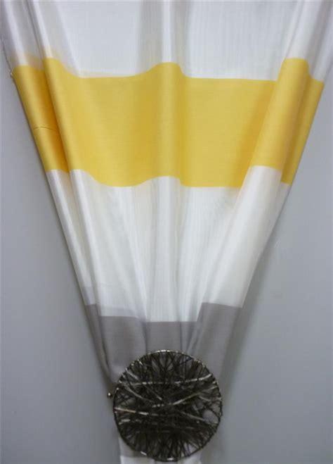 deko stoff gardine vorhang querstreifen wei 223 gelb grau - Vorhang Gelb Grau