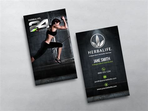 Business Card Templates Herbalife by Herbalife Business Cards