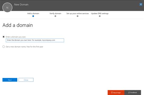 Domain Registrar Microsoft