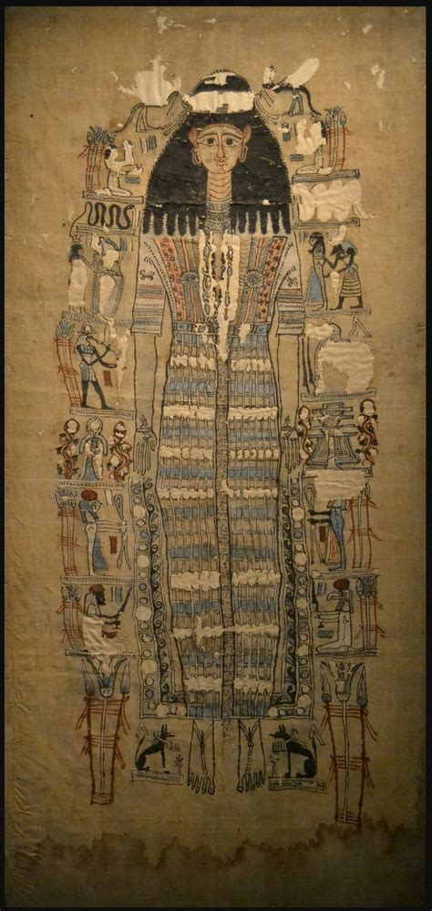 The Ancient Egyptian Shroud Of The Mummy Of