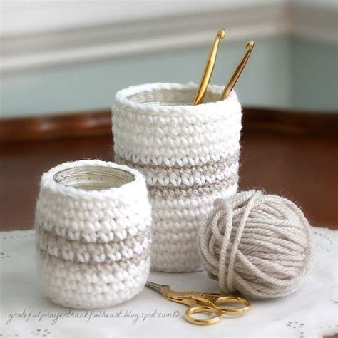 Jar Cover 3 crochet jar covers 8 free patterns pink mambo