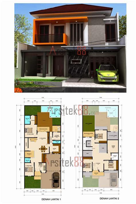 Desain Dapur Lebar 2 Meter | desain rumah minimalis 2 lantai lebar 8 meter gambar