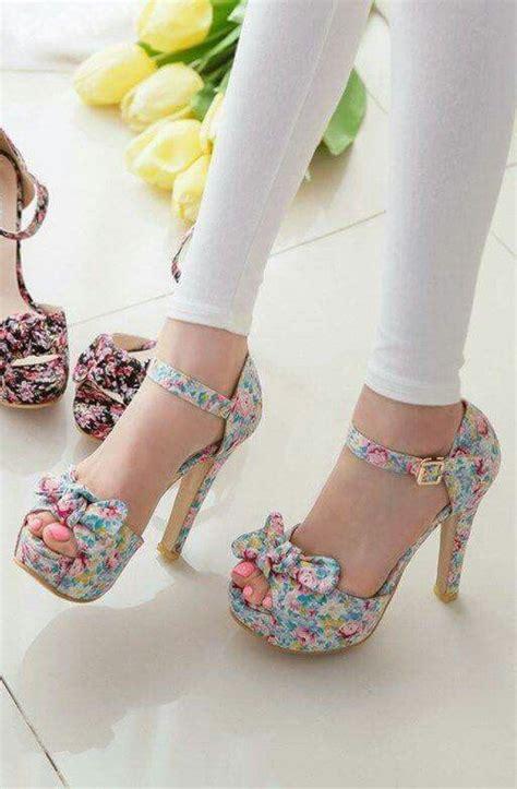 High Heel Fashion Flower Printed trendiest collection of floral print high heel footwear fashion trend