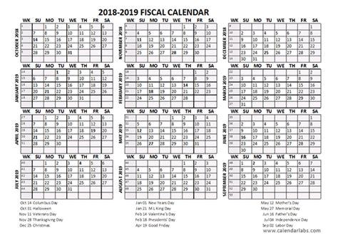 fiscal calendar   templates  printable templates