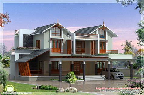 unique homes plans modern and unique villa design kerala home design and
