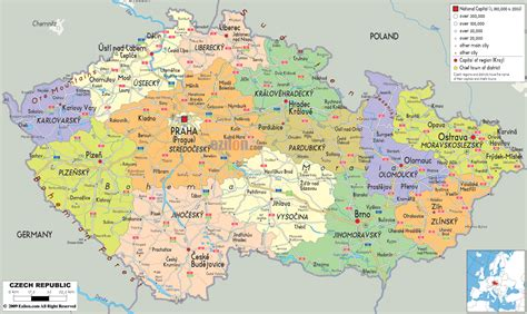 political map of china ezilon maps political map of czech republic ezilon maps european