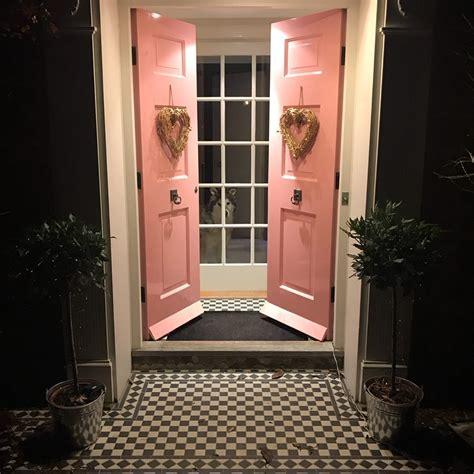 Pink Front Door Paint Farrow Nancy S Blushes Paint Color Scheme Interiors By Color