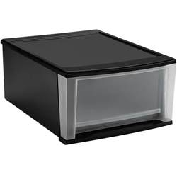 stackable plastic storage drawers black in storage drawers