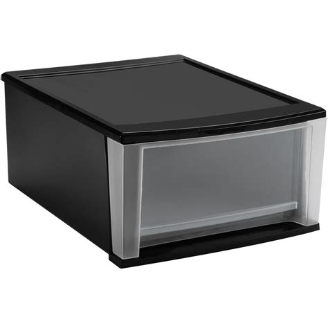 Plastic Stacking Drawers by Stackable Plastic Storage Drawers Black In Storage Drawers